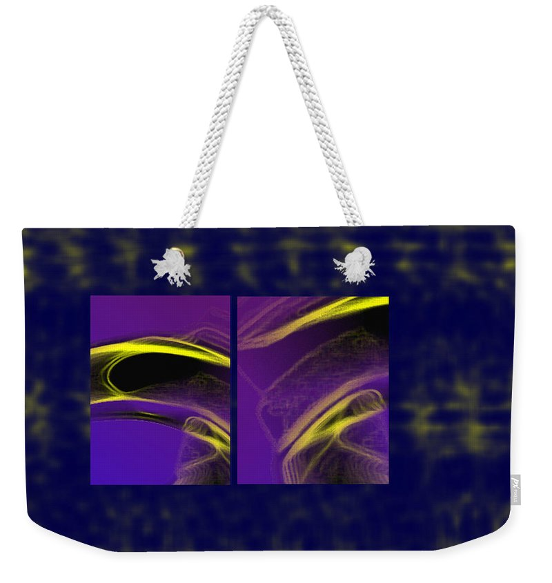 Abstract Weekender Tote Bag featuring the digital art Cobra by Steve Karol