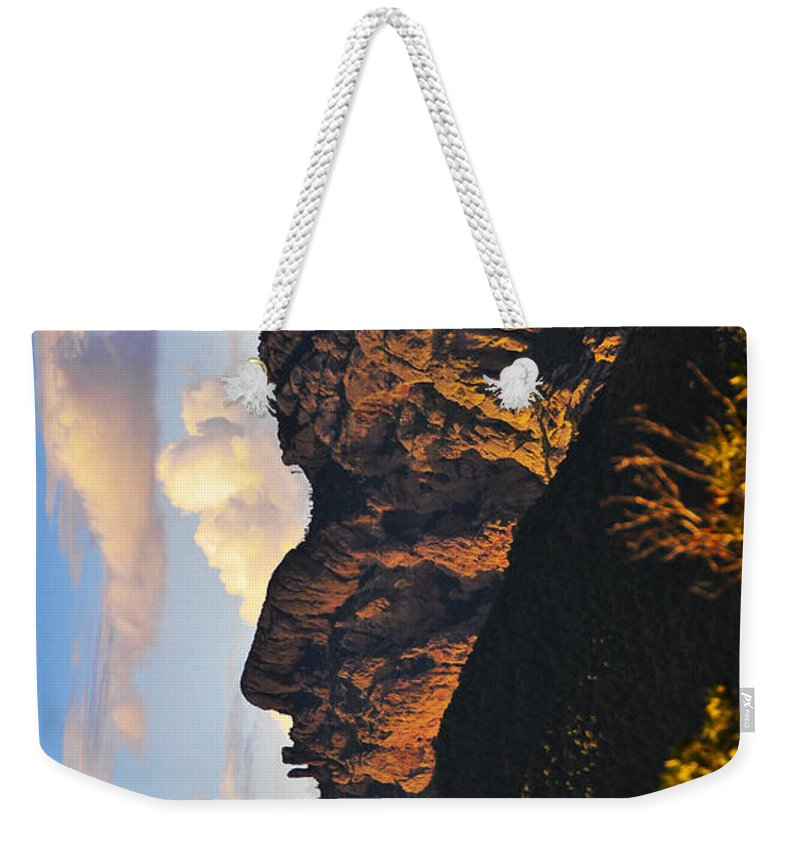 Cochise Head Weekender Tote Bag featuring the photograph Cochise Head by Skip Hunt