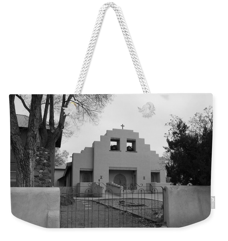 Architecture Weekender Tote Bag featuring the photograph Cochiti Church by Rob Hans