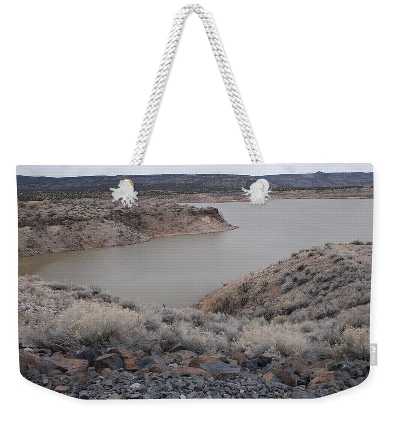 Mountians Weekender Tote Bag featuring the photograph Cochiti Lake by Rob Hans