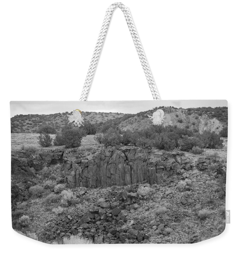 Rocks Weekender Tote Bag featuring the photograph Cochiti Rocks by Rob Hans