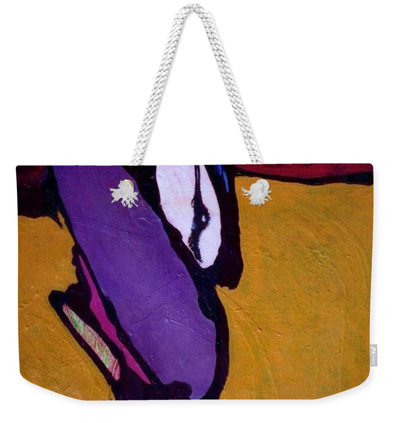 Abstract Weekender Tote Bag featuring the painting Cockroach Loosille Ball by Marlene Burns