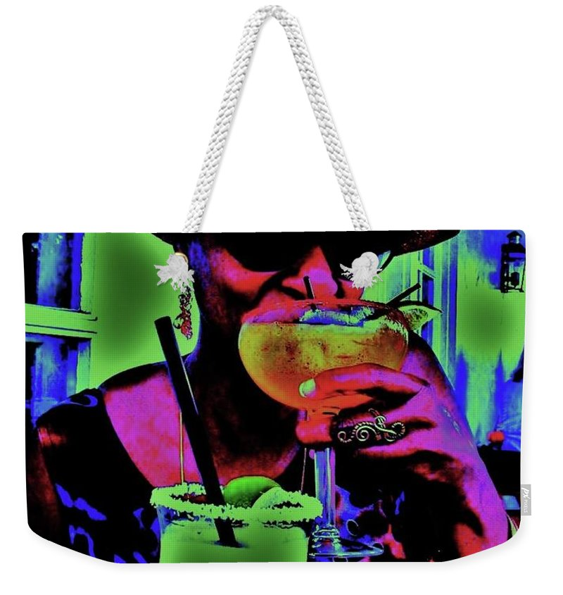 Cocktails Weekender Tote Bag featuring the photograph Cocktails Anyone by Diana Dearen
