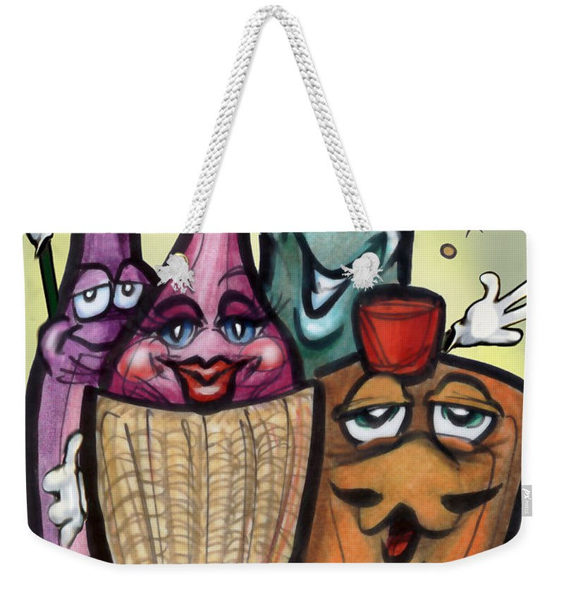 Cocktail Weekender Tote Bag featuring the greeting card Cocktails by Kevin Middleton