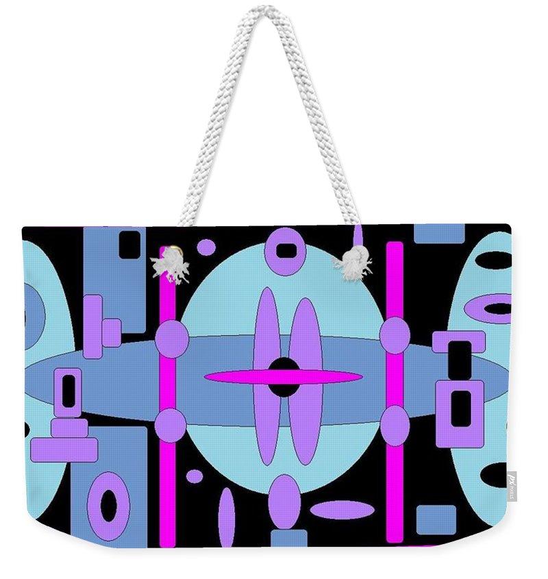 Blackblue Digital Spheres Weekender Tote Bag featuring the digital art Cocktails by Jordana Sands