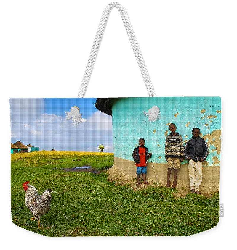 Skip Weekender Tote Bag featuring the photograph Cocky by Skip Hunt