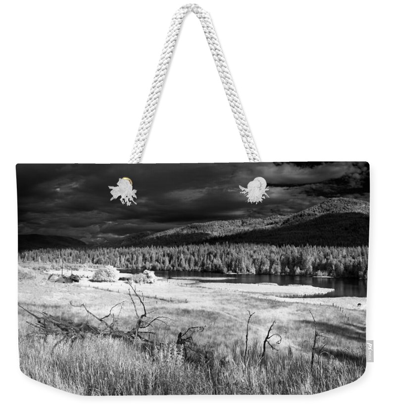 Infrared Landscape Weekender Tote Bag featuring the photograph Cocolala Creek by Lee Santa