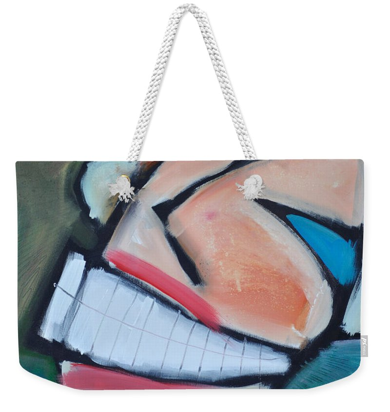 Smile Weekender Tote Bag featuring the painting Coconut Bread by Tim Nyberg