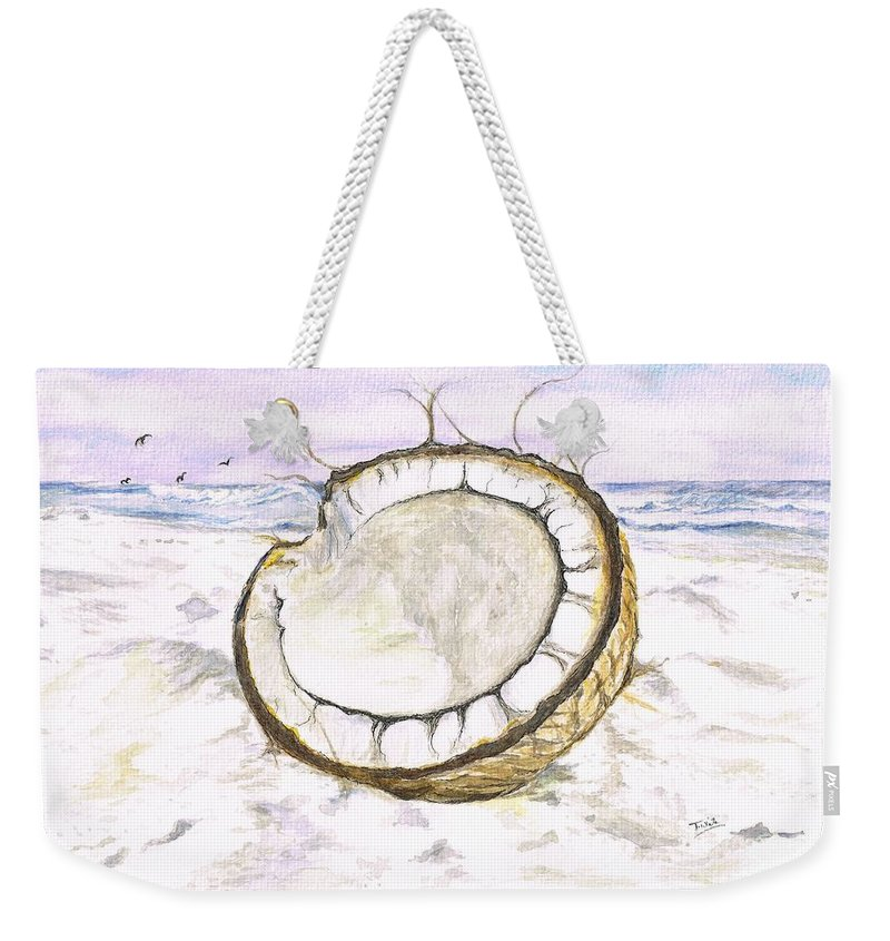 Teresa White Weekender Tote Bag featuring the painting Coconut Island by Teresa White