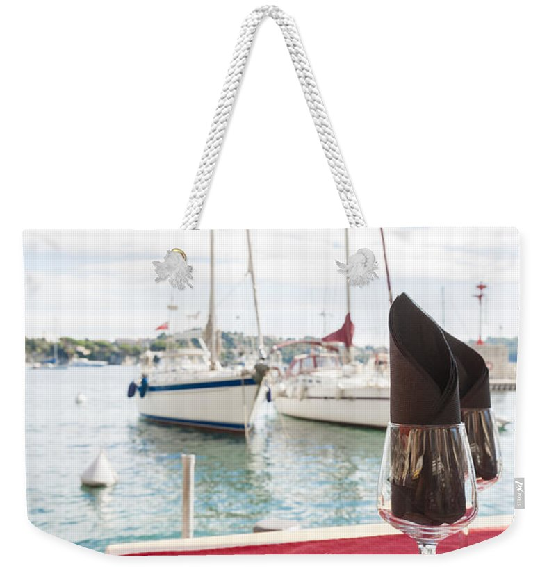 French Cafe Weekender Tote Bags
