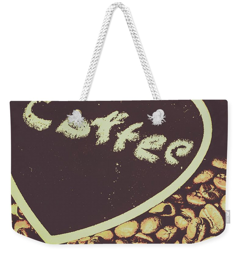 Bean Weekender Tote Bag featuring the photograph Coffee Heart by Jorgo Photography - Wall Art Gallery