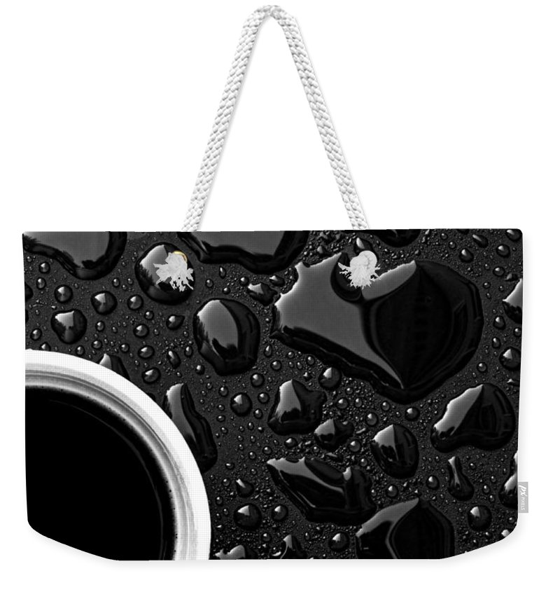 Abstract Weekender Tote Bag featuring the photograph Coffee Outdoor Cafe by Bob Orsillo