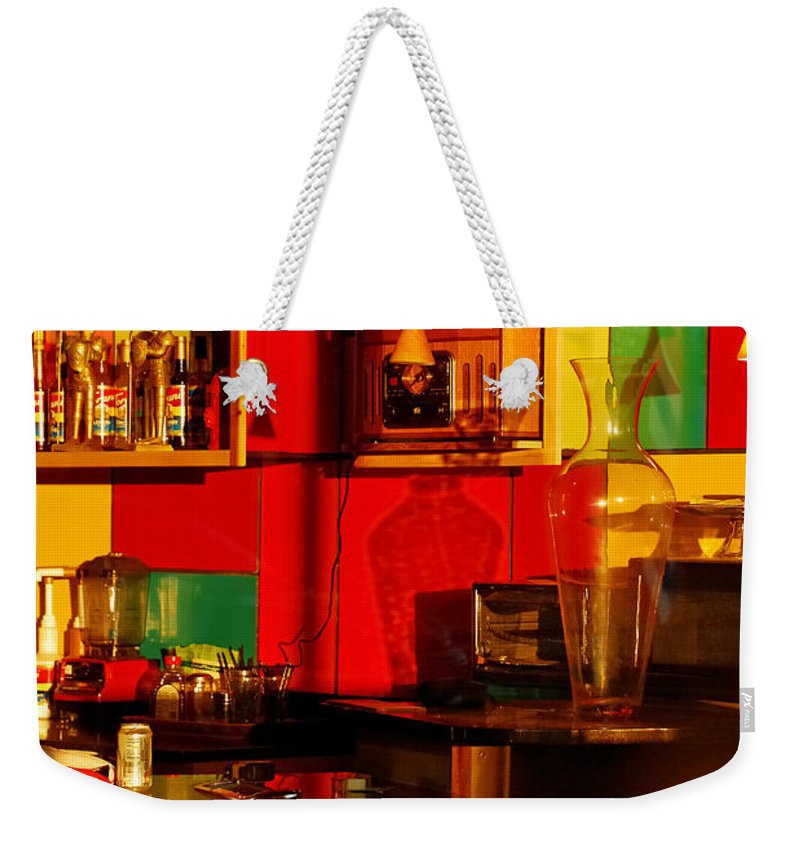Skip Hunt Weekender Tote Bag featuring the photograph Coffee Shop by Skip Hunt