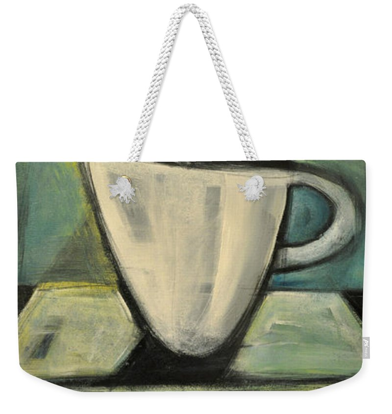 Coffee Weekender Tote Bag featuring the painting Coffee. Table. 2 by Tim Nyberg