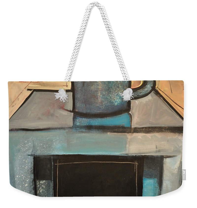 Coffee Weekender Tote Bag featuring the painting Coffee Table by Tim Nyberg