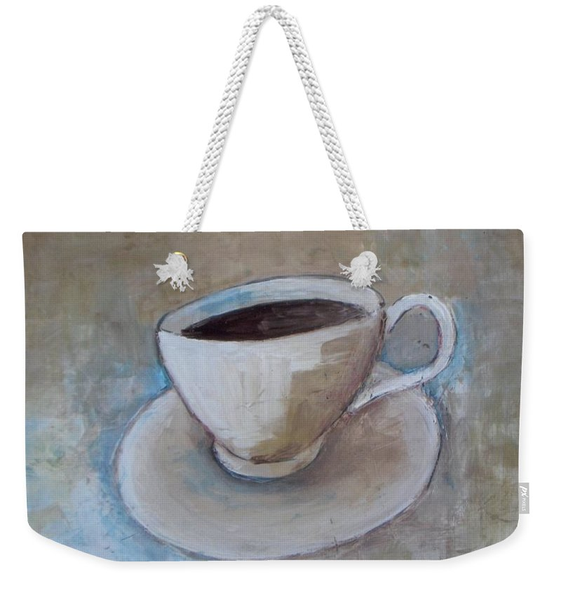 Restaurant Weekender Tote Bag featuring the painting Coffee by Vesna Antic