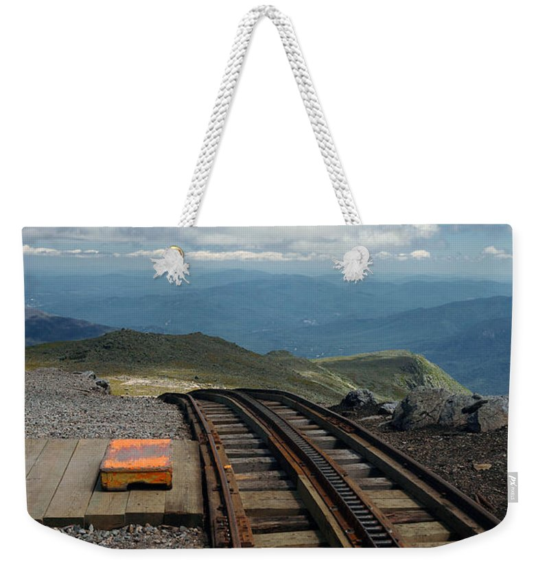 Lawrence Weekender Tote Bag featuring the photograph Cog Railway Stop by Lawrence Boothby