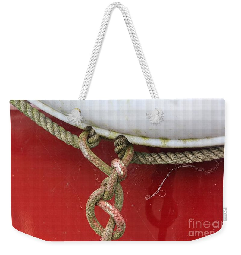 White Weekender Tote Bag featuring the photograph Cohitched by Dorothy Hilde