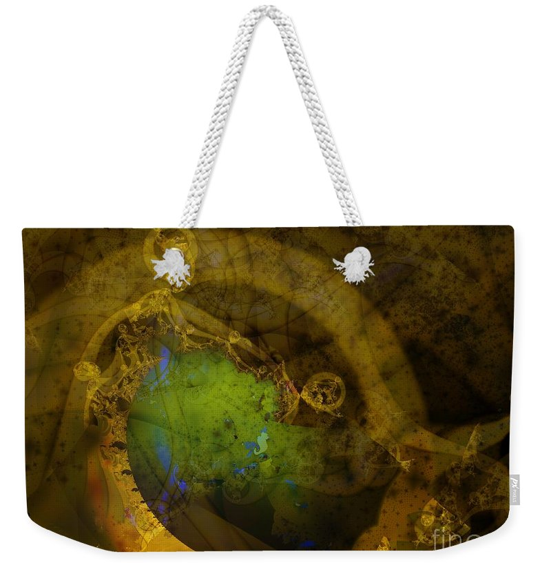 Fractal Image Weekender Tote Bag featuring the digital art Coiled by Ron Bissett