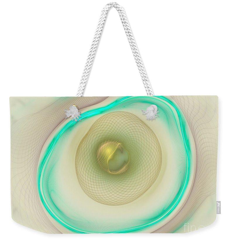 Apophysis Weekender Tote Bag featuring the digital art Coiled Weave by Deborah Benoit