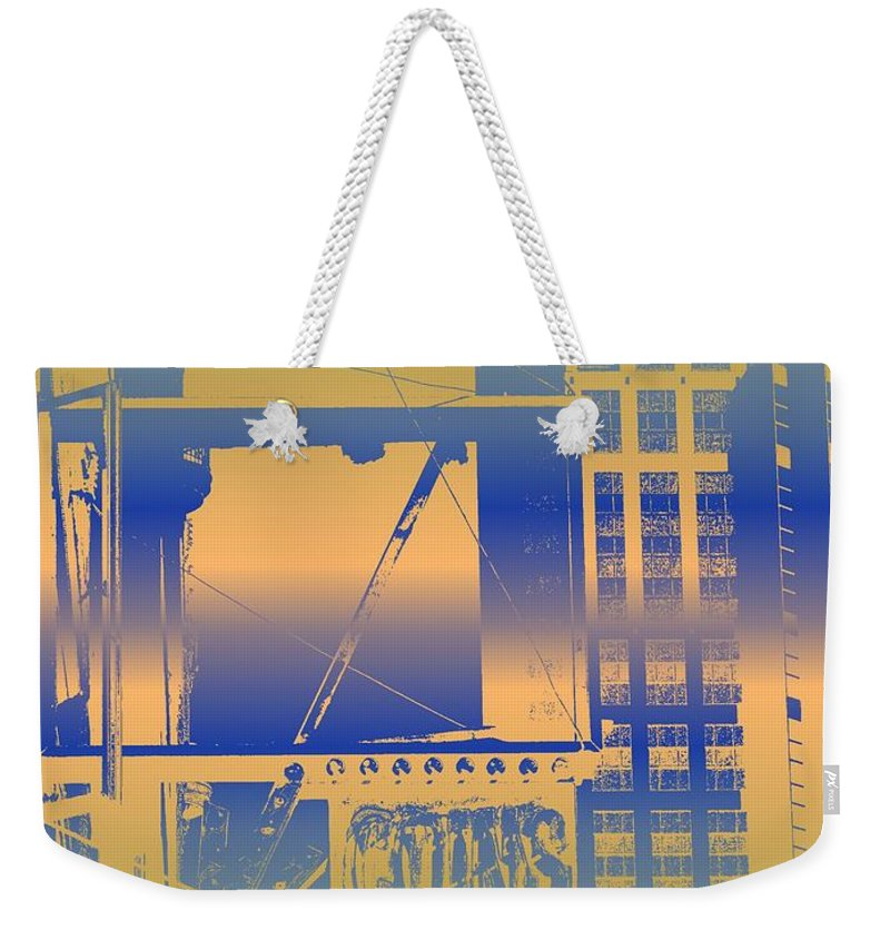Seattle Weekender Tote Bag featuring the digital art Coins by Tim Allen