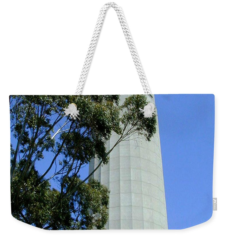 Coit Weekender Tote Bag featuring the photograph Coit Tower by Douglas Barnett
