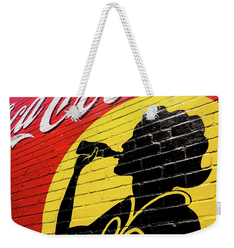 Coke Weekender Tote Bag featuring the photograph Coke Girl Silhouette by Tim Leimkuhler
