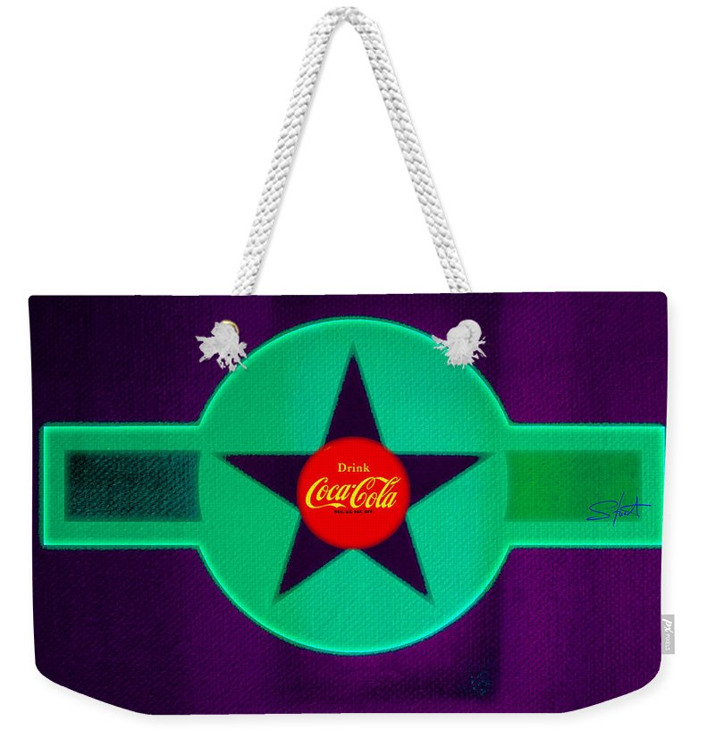 Label Weekender Tote Bag featuring the painting Coke N Lime by Charles Stuart