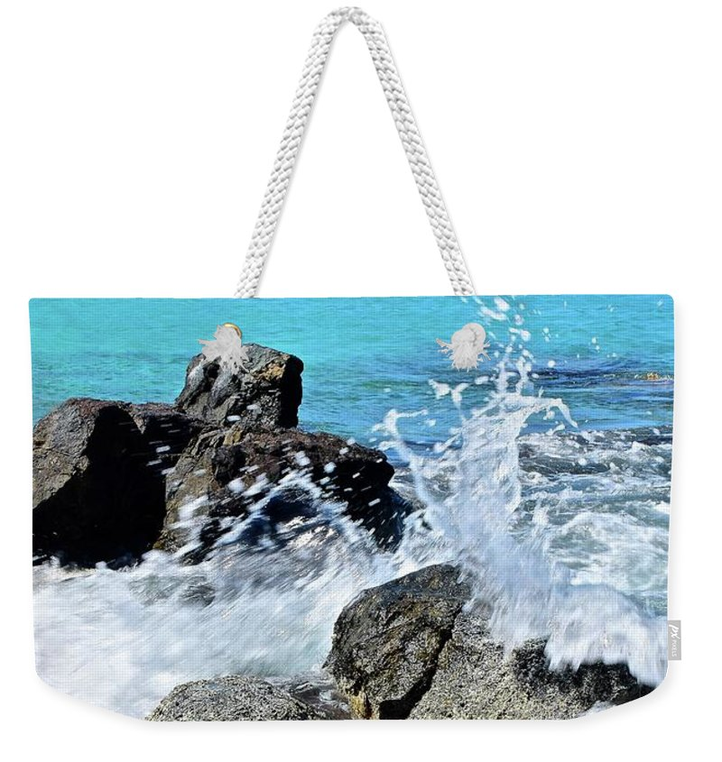 Coki Weekender Tote Bag featuring the photograph Coki Beach Seascape by Frozen in Time Fine Art Photography