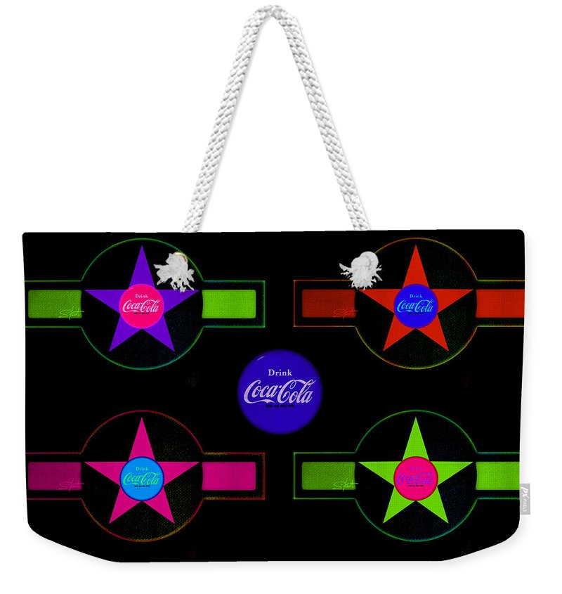 Label Weekender Tote Bag featuring the painting Cola-candy by Charles Stuart