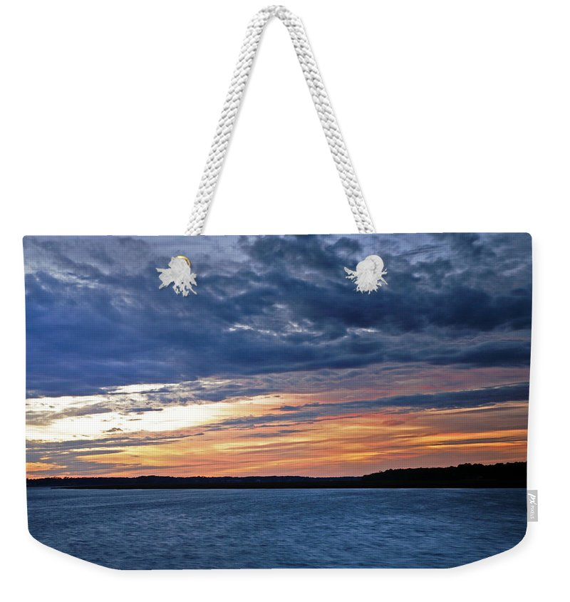 Sunset Weekender Tote Bag featuring the photograph Cold Front by Phill Doherty