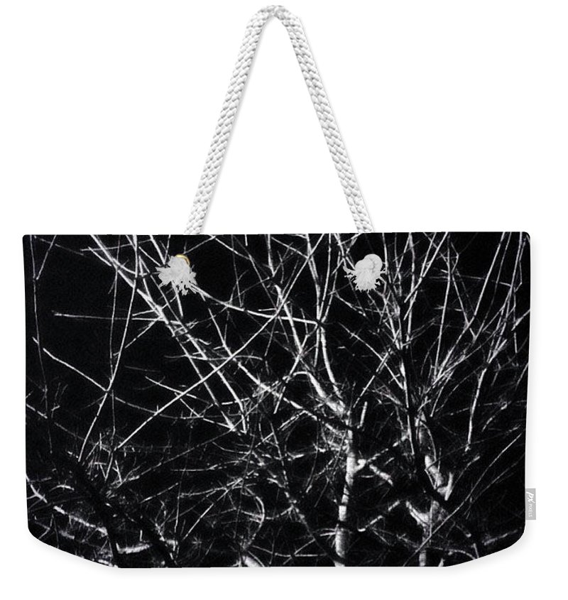 Fall Weekender Tote Bag featuring the photograph Cold Illumination by ElReco Ramon