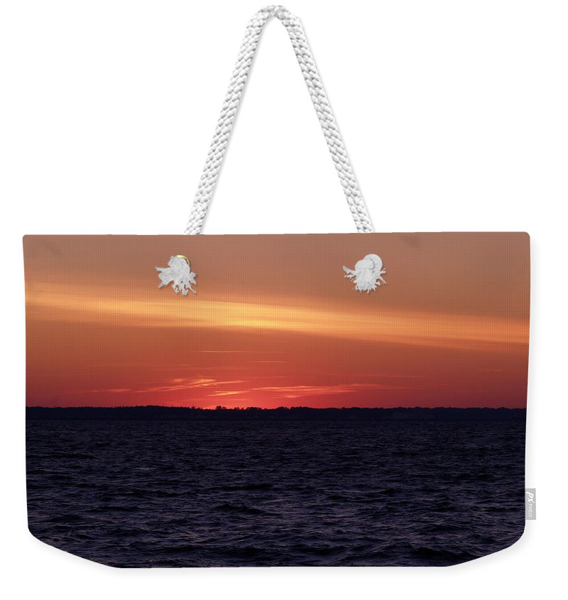 Winter Weekender Tote Bag featuring the photograph Cold Winter Sunset 1 by Bob Johnson