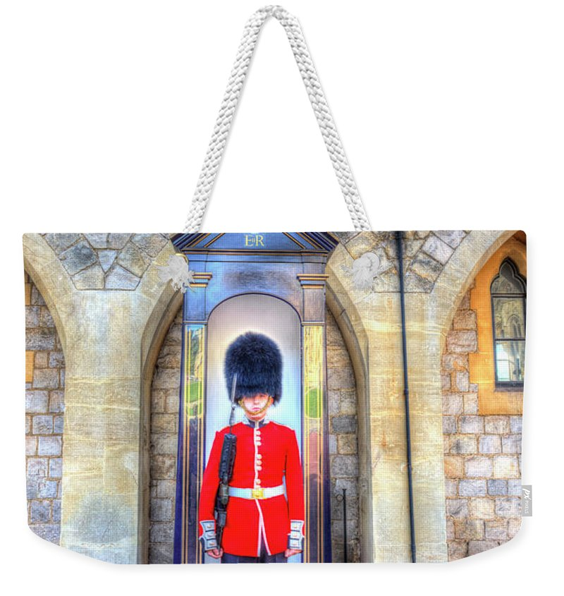 Windsor Castle Weekender Tote Bag featuring the photograph Coldstream Guard by David Pyatt