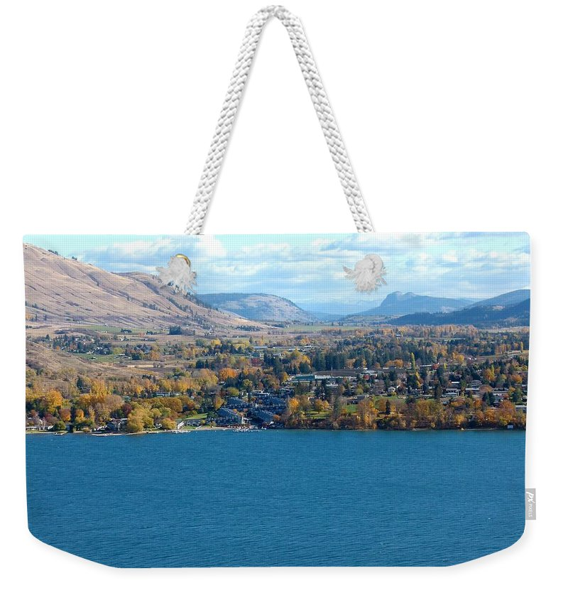 Autumn Weekender Tote Bag featuring the photograph Coldstream Valley In Autumn by Will Borden