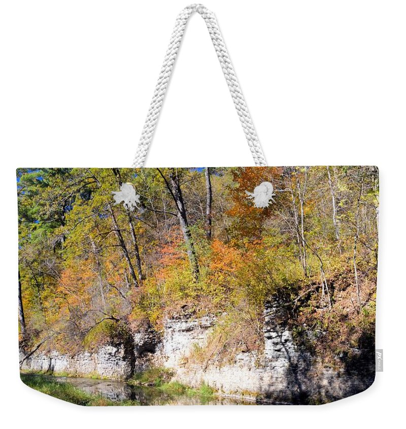 Bluff Weekender Tote Bag featuring the photograph Coldwater Bluffs by Bonfire Photography
