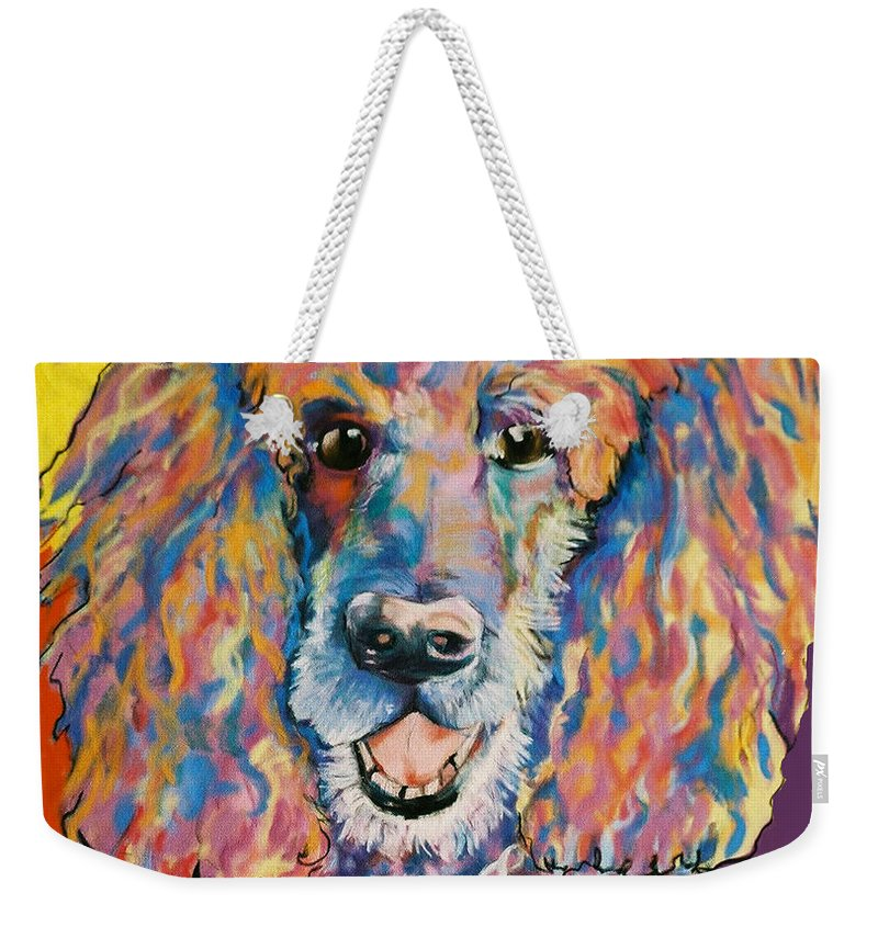 Standard Poodle Weekender Tote Bag featuring the painting Cole by Pat Saunders-White