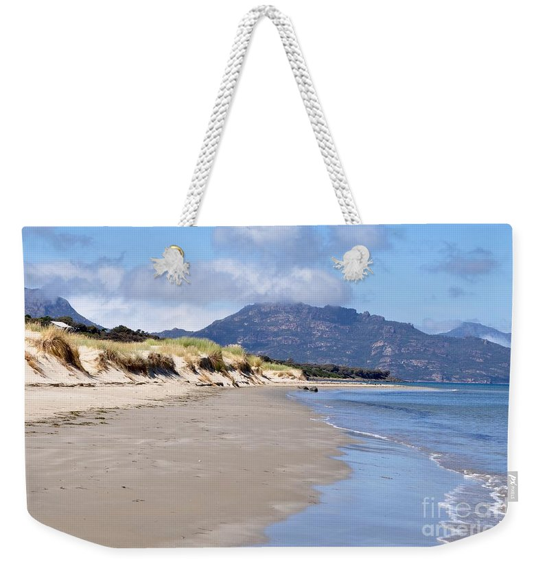 Coals Bay Weekender Tote Bag featuring the photograph Coles Bay Serenty by Csilla Florida