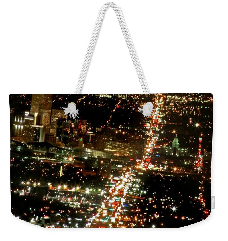 Colfax Weekender Tote Bag featuring the photograph Colfax by Jeffery Ball