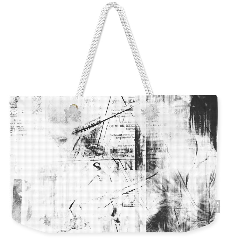 Weekender Tote Bag featuring the digital art Collage 10 by Cathy Anderson