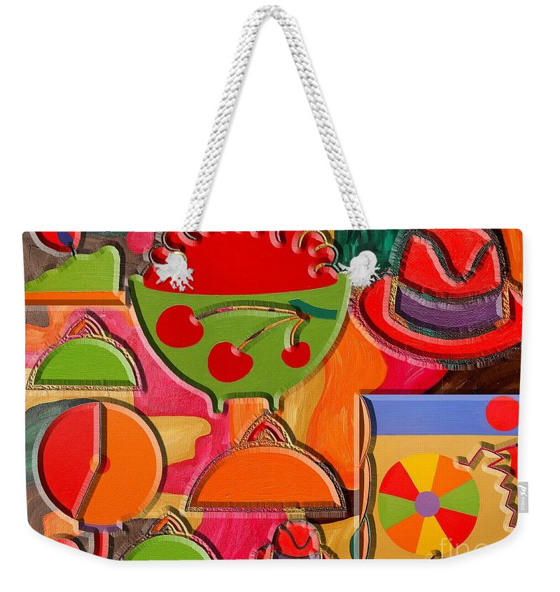 Collage Weekender Tote Bag featuring the painting Collage 3 by Patrick J Murphy