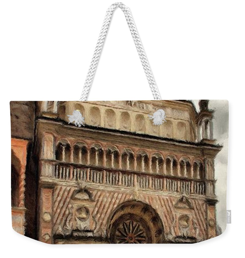 Chapel Weekender Tote Bag featuring the painting Colleoni Chapel by Jeffrey Kolker