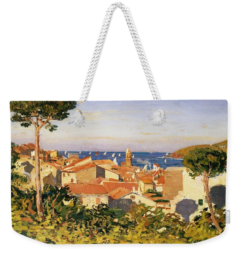 Collioure Weekender Tote Bag featuring the painting Collioure by James Dickson Innes