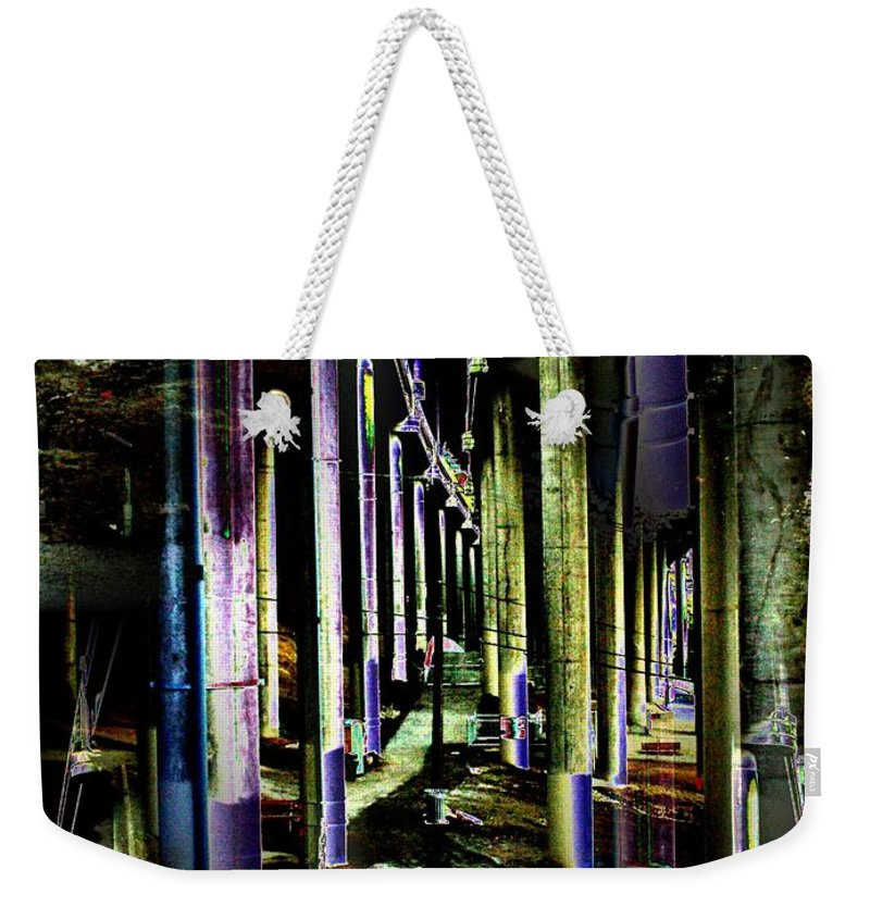 Seattle Weekender Tote Bag featuring the photograph Collonade Park by Tim Allen