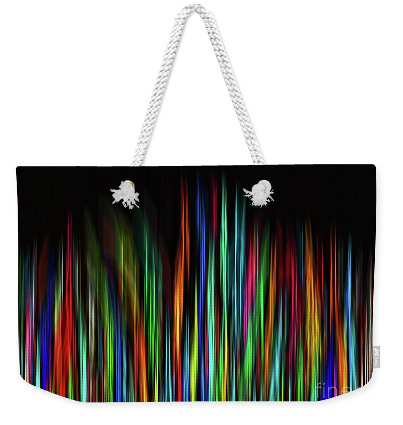 Colorful Weekender Tote Bag featuring the digital art Color Abstract 3.31 by L Bee