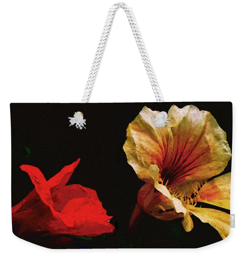 Flowers Weekender Tote Bag featuring the painting Color And Light Suspended by RC deWinter