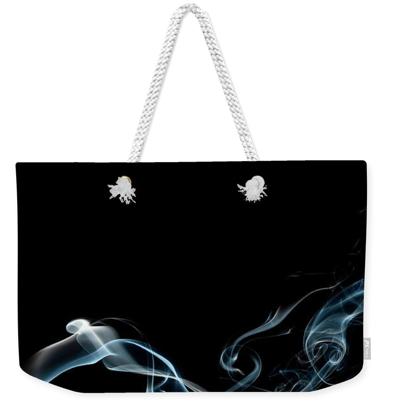 Abstract Weekender Tote Bag featuring the photograph Color And Smoke Vi by Scott Norris