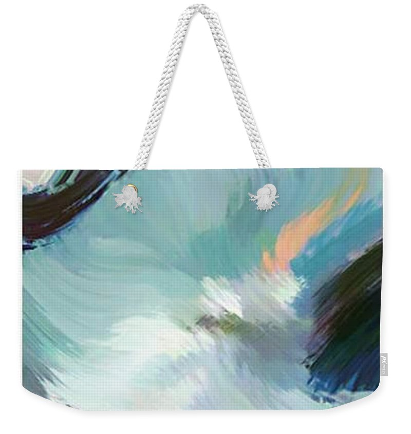 Landscape Digital Art Weekender Tote Bag featuring the digital art Color Falls by Anil Nene