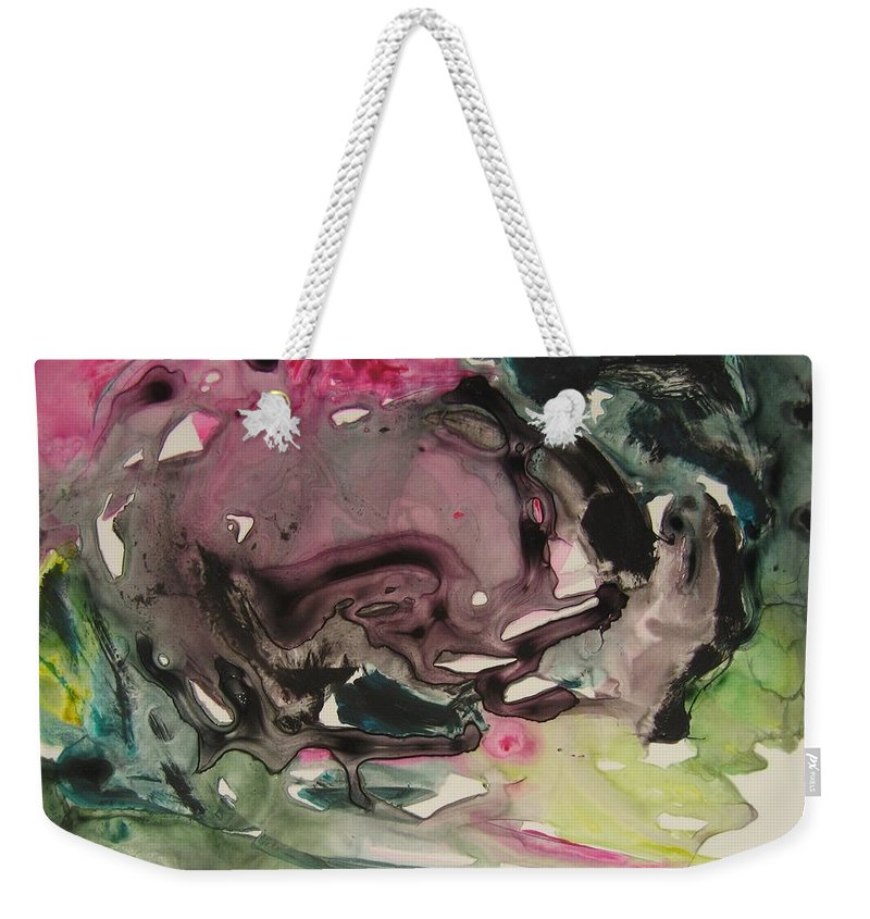 Abstract Paintings Weekender Tote Bag featuring the painting Color Fever 115 by Seon-Jeong Kim
