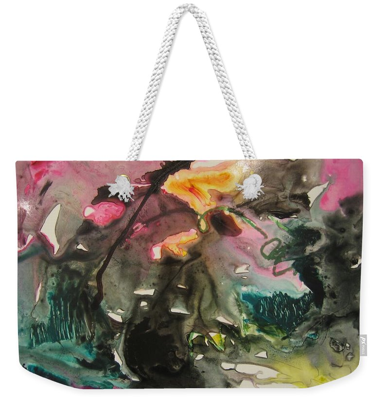 Abstract Paintings Weekender Tote Bag featuring the painting Color Fever 125 by Seon-Jeong Kim